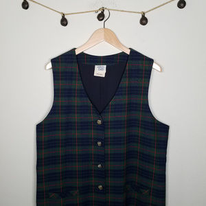 Vintage 70's UNION MADE Plaid Button Up Dress 16